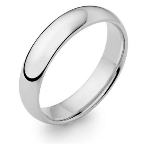 mens heavy platinum 8mm d shape wedding ring 007511