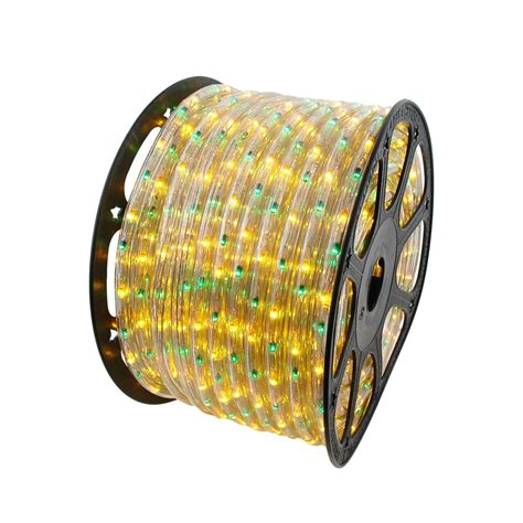 yellow and green 150 feet chasing rope light spools 3 wire