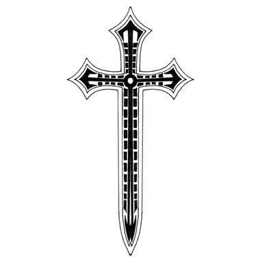 cross sword tattoo sword style cross ink tattoos religious