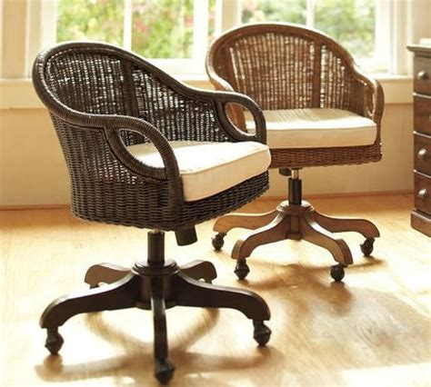 wicker swivel desk chair wicker rattan office chair cottage wicker rattan writing