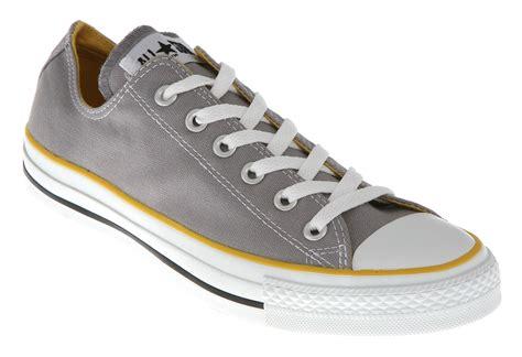 Converse Low Grey Bnib converse all ox low grey yellow canvas exclusive