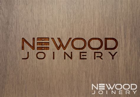 woodworks company modern upmarket logo design for newood joinery by rm