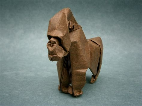 How To Make Origami Gorilla - gorilla origami by mitanei on deviantart