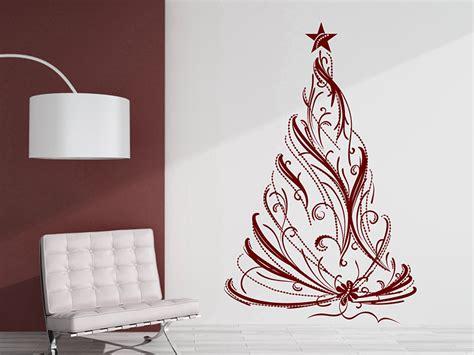 wandtattoo festlicher weihnachtsbaum tannenbaum