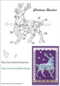 Iris Folding Christmas Cards Templates Christmas Reindeer Iris Folding Pattern On Craftsuprint