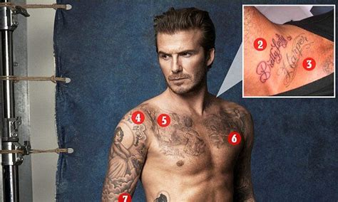beckham family tattoo a look back at david beckham s 40 tattoos and their