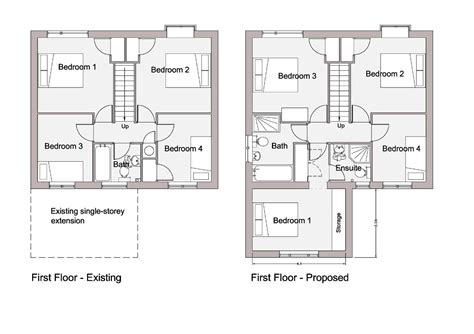 sketch floor plan modern house