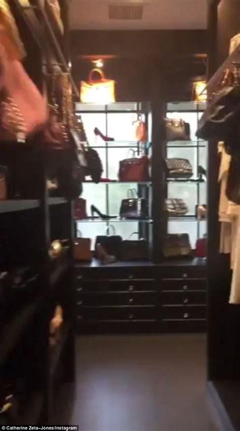 Catherine Closet catherine zeta jones gives tour of cavernous closet