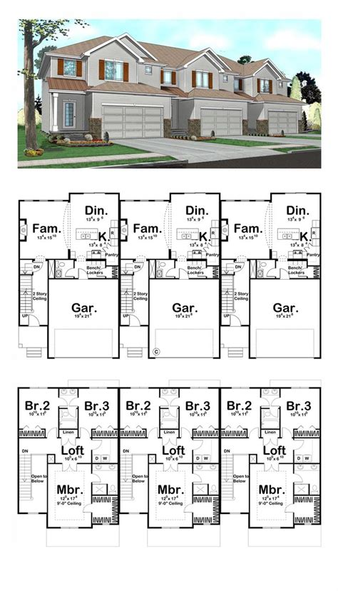 2 bedroom unit floor plans 25 best ideas about duplex plans on duplex