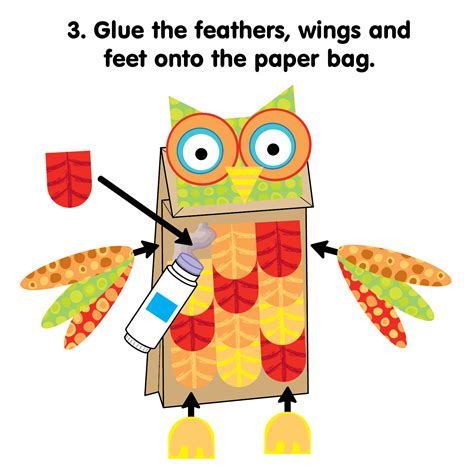 How To Make A Paper Bag Owl - printable paper bag owl alexbrands