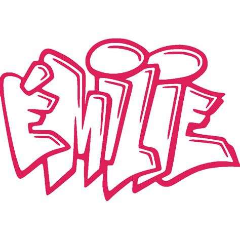 Wall Sticker Transparant 29 stickers emilie graffiti stick