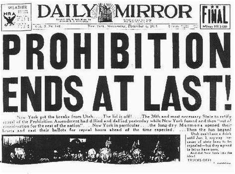 prohibition ends prohibition ends outside the beltway