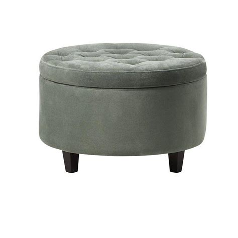 Home Decorators Ottoman Home Decorators Collection Seagreen Storage Ottoman 0847000610 The Home Depot