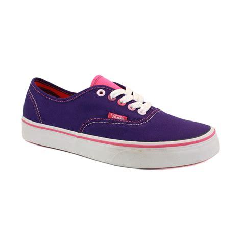 vans multi pop authentic scq7mk womens laced canvas shoes