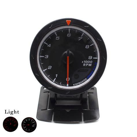 Indicator Defi Cr cnspeed 60mm car tachometer black white lighting 0 9000 rpm meter auto car