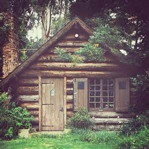 small log cabin in the woods lovely outdoors