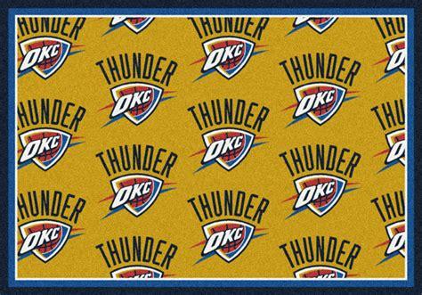 Area Rugs Oklahoma City Oklahoma City Thunder Repeat Logo Area Rug