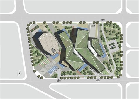 Green Building Floor Plans gallery of huaihua theater and exhibition center proposal