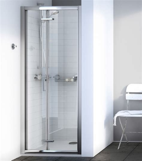 760mm Shower Door Aqualux Source 760mm Bi Fold Shower Door 1192601