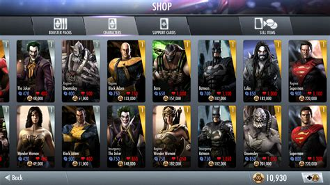 injustice gods among us android injustice gods among us characters android