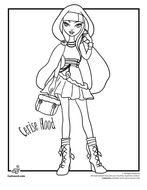 ever after high coloring pages cerise ever after high coloring pages ever after high cerise
