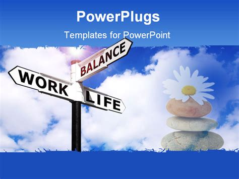 templates powerpoint work powerpoint template a large sign post with some texts and