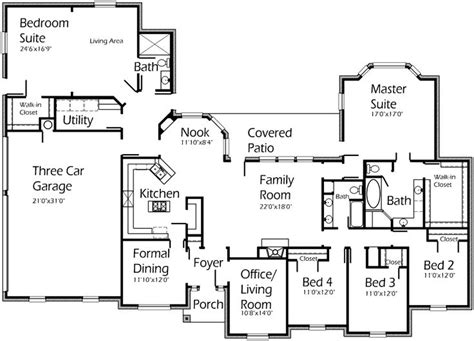 house plans with in suite in suite house plans