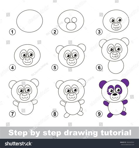 doodle draw step by step step by step drawing tutorial visual stock vector
