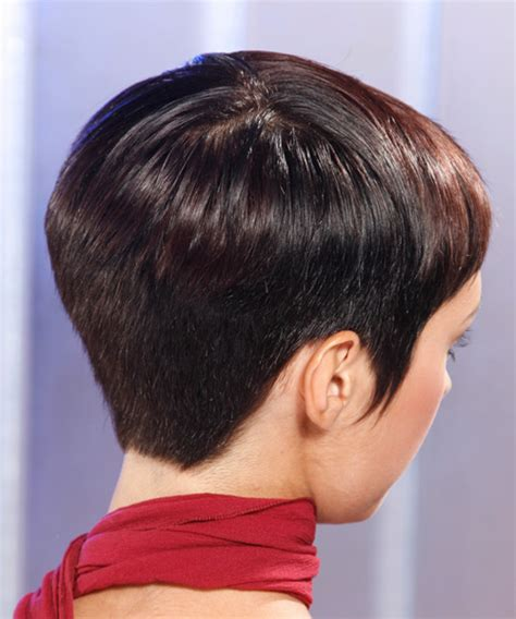 93 very short hairstyles front and back view 20 short straight formal hairstyle mocha