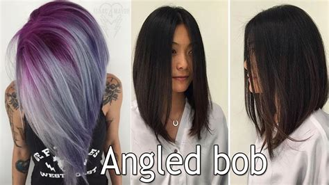 plus size women with angle bob hairstyle long angled bob haircut long bob haircuts for women i