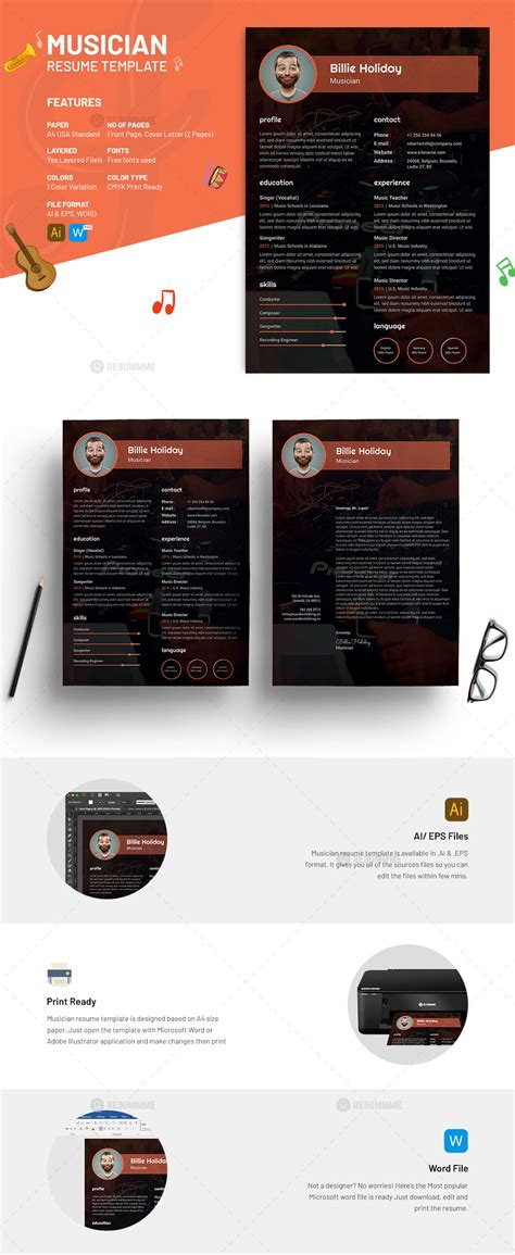 Musician Resume Template by Musician Resume Template Free Resummme
