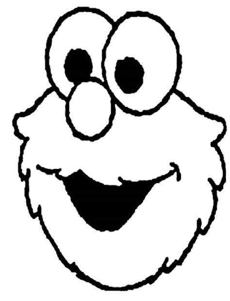 elmo head coloring pages picture of elmo head coloring page netart