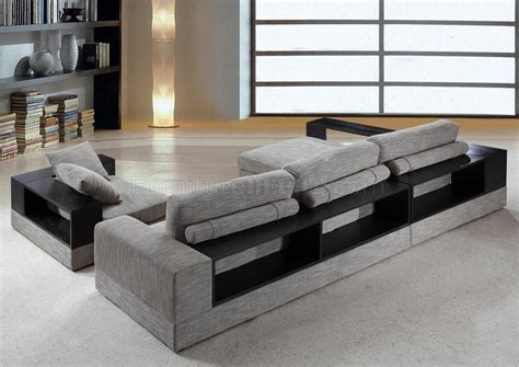 0739 anthem grey fabric sectional sofa chair
