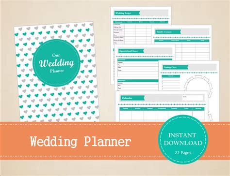 printable wedding organizer binder wedding planner wedding binder printable and editable