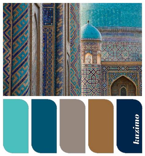 turquoise teal taupe caramel navy color palettes