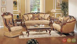 Luxury Chairs For Living Room Exposed Wood Luxury Traditional Sofa Loveseat Formal Living Room Furniture Set Ebay