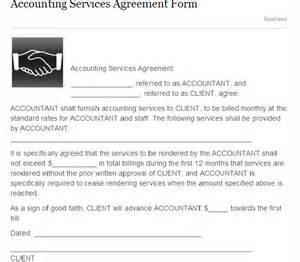 accounting services agreement form sample forms