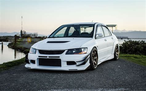 lancer evo white mitsubishi evo 9 wallpapers wallpaper cave
