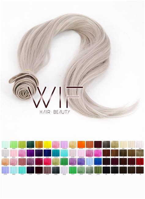 heat resistant synthetic sewn hair weft  diy wig