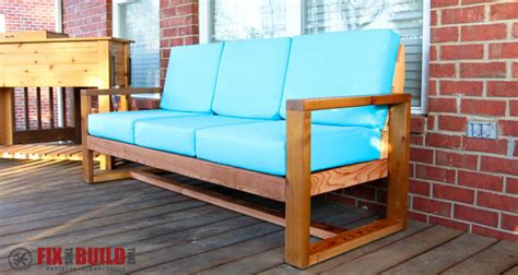 how to build patio furniture sectional how to build a diy modern outdoor sofa fixthisbuildthat
