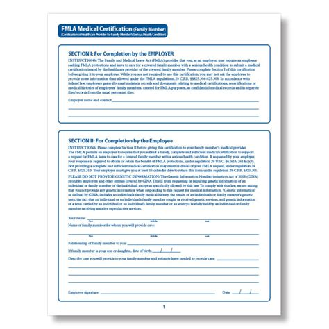 printable fmla poster fmla family member medical certification form