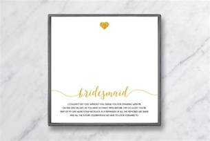 what to write in a bridesmaid thank you card baublebible com