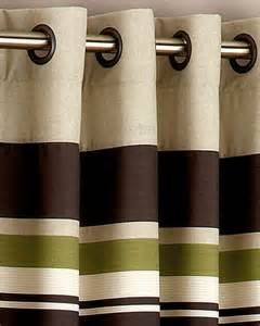 yale green brown striped eyelet curtains curtains and