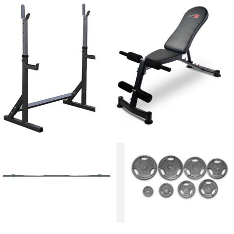 weight bench and rack bodyworx l314r rack bench and weights package prime fitness