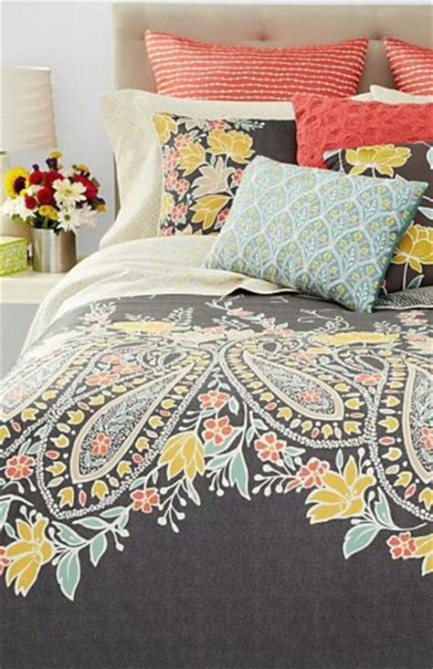 gray and coral bedding home accessory paisley coral turquoise grey bedding wheretoget