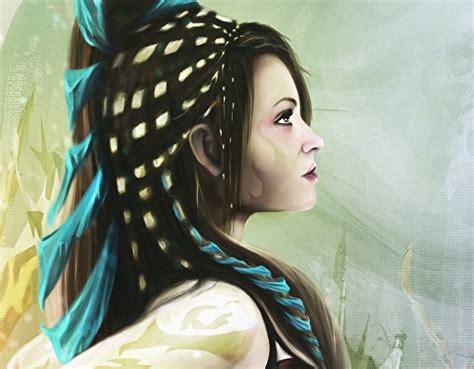 imagenes niñas japonesas fondos de pantalla dibujado pelo cabello negro nia chicas