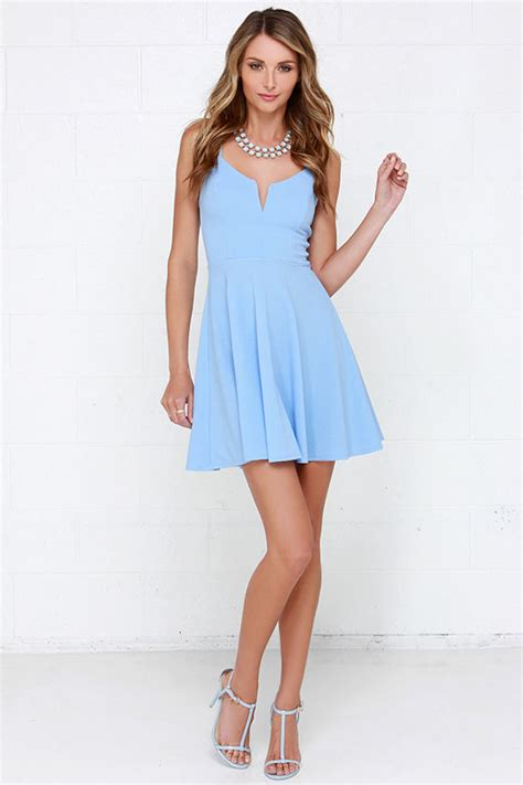 Light Blue Skater Dress by Light Blue Dress Fit And Flare Dress Skater Dress