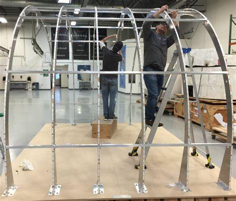examine exposed honeycomb panels aerospace high tech