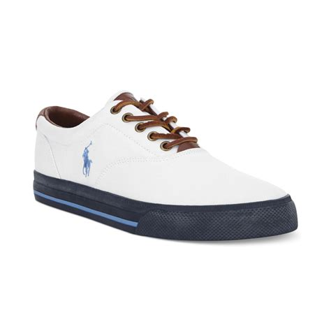 ralph white sneakers lyst polo ralph polo vaughn sneakers in white for