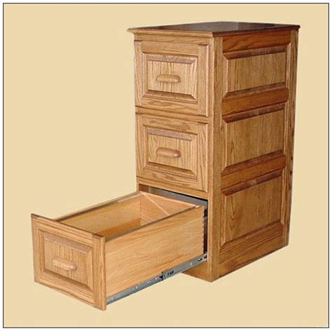 Wood File Cabinet with Lock   Wood File Cabinet